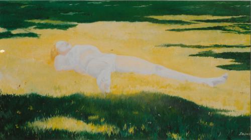 Ywona dans le soleil