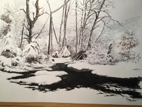 flaque et neige