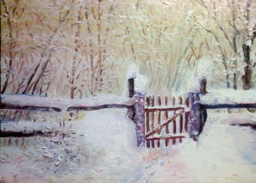 La petite porte sous la neige