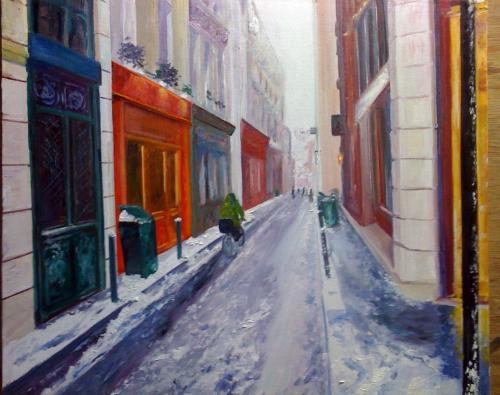 Rue de paris en hiver